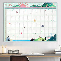 2019 Year Wall Hanging Planner Yearly Annual Calendar Chart Supply 43*58cm
