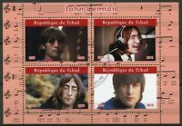 Chad Music Stamps 2019 CTO The Beatles John Lennon Famous People 4v M/S