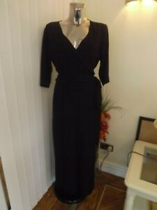 M&S PER UNA BLACK 7/8'S JUMPSUIT TROUSERS TOP ALL IN ONE SIZE 14 LADIES BNWT £59