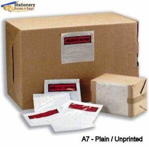100 A7 PLAIN Unprinted Document Address Wallets Labels 113x110mm Self Adhesive