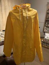 Yellow American Rubberised Raincoat Mac Fisherman Style  XL 💧Cosplay IT Georgie