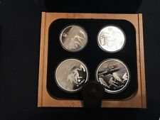 Silver Coin Montreal Summer Olympics 1976 - 4 Set Sports