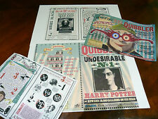 Quibbler 4 posters magazine covers and pages. Harry Potter movie prop decor.