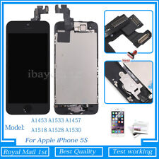 For iPhone 5S Screen Replacement Touch LCD Display Digitizer Button Camera Black