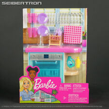 Barbie Indoor Furniture Set KITCHEN DISHWASHER + Accessories Pack 2019 New