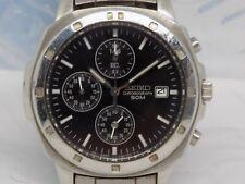 SEIKO 'SND495' Chronograph 7T92-0CA0 Gents Quartz Watch c.1995 Stainless Steel