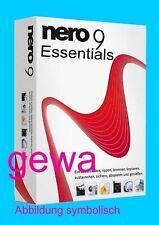 Nero 9 Essentials CD/DVD Vollversion Windows XP / Vista / Windows 7 NEU/OVP