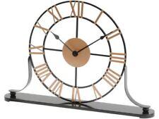 Relojes de escritorio y chimenea de acero