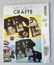 McCall's Crafts M 5407 Dog Appliques and Totes Pattern Uncut 2007