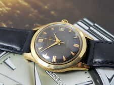 VINTAGE FAVRE-LEUBA DAYMATIC AUTOMATIC GOLD CAP S-STEEL WATCH GENTS.