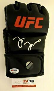 "JON ""BONES"" JONES  SIGNED  NEW UFC  RIGHT HANDED BLACK GLOVE, PSA COA #8A83453"