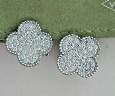 Van Cleef Arpels- Magic -Alhambra -18k-  White Gold Diamond Earrings w/ COAListe