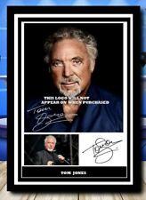 More details for (544) tom jones signed unframed/framed photograph reprint great gift @@@@@@@@