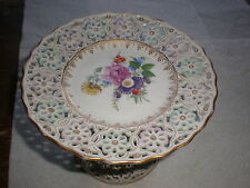 Antique-Meissen Reticulated Compote-Ca.1890-Mint!