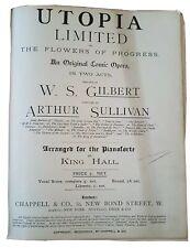 W. S. Gilbert/Arthur Sullivan: Utopia Limited - Comic Opera