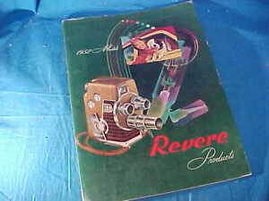 Orig 1952 REVERE MOVIE CAMERA + Tape Recorder Dealer ADVERTISING CATALOG
