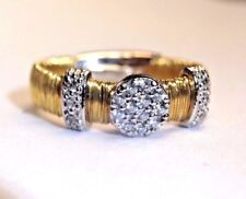 Designer Look Gold over Sterling Silver Pave CZ Ring Size 8.5