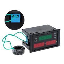 100A Digital KWH Watt Power Meter Volt Amp Ammeter Voltmeter 80-300V 4-digit LED