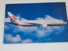 Vintage TWA TRANS WORLD AIRLINES PostCard Platz Press