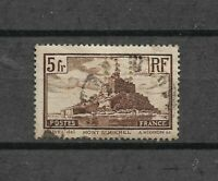 Timbres FRANCE - 260 (o) - Perforé - Monuments et sites (5) -Mont St Michel 1929