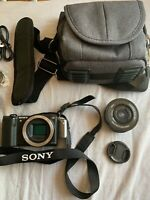 Sony alpha a1500 camera, with 16-50 mm f/3.5-5.6 Lens, Sandstrom camera case