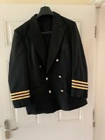 Real Airline Crew Pilots Mens Uniform Jacket -VGC. Medium Size Fit.