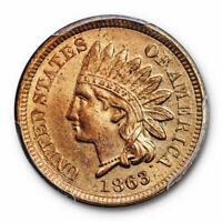 1863 1C Indian Head Cent PCGS MS 64 Uncirculated Copper Nickel Cert#7804
