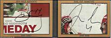 2013 Dan Carey Josh Sims 1/1 Gold Dual-Cut Autograph Book Lacrosse - Mammoth NLL