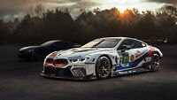 BMW M8 GTE 2018 Auto Car Art Silk Wall Poster Print 24x36""
