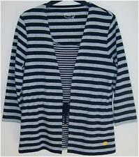 New Womens Dash Grey & Navy Striped Top Size 10