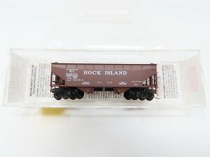 N Micro-Trains MTL 90010 RI Rock Island 33' 2-Bay Hopper w/ Offset Sides #89500