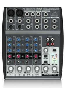 Behringer 802 8 Input 2 Bus Mixer Premium With XENYX Mic Preamps and British EQs