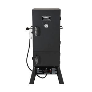 "Masterbuilt MB20051311 30"" Vertical Propane Gas BBQ Meat Smoker Grill, Black"