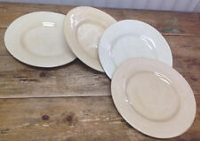 Pottery Barn Sausalito Hand Painted Mexico 4 Natural Cream Dinner Plates Ivory