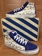 RARE🔥 VANS VAN Doren Originals Disney's Donald Duck Sk8-Hi Print Sz 11 Royal LE