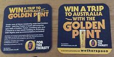Fosters Golden Ticket beer mat/coaster, new