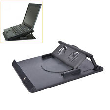 LAPTOP TABLE STAND DESK TRAY COOLING HOLDER ADJUSTABLE 360° ROTATION SWIVEL WC