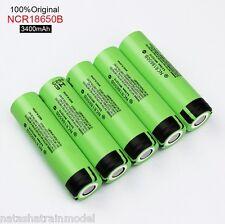 Batterie Panasonic  ricaricabili NCR18650B 3400 mAh 3.7V Li-ion 5 pezzi JAPAN