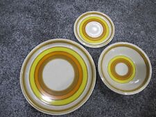 Mikasa Sun Circles Dinner Plate Bowl Saucer Set