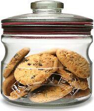 Kilner Push Top Storage Cookie Biscuit Pasta Cereals Airtight Glass Jar .65 lt