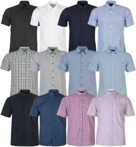 ✅PIERRE CARDIN Herren Hemd kurzarm kariert Short Shirt Freizeit Kragen Hemden