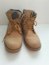 Mens Caterpillar Tan Brown Ankle Boots Lace Ups Size 10