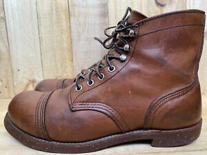 Red Wing Heritage Iron Ranger 8111 Amber Harness Cap Toe Boots Sz US 8 D || UK 7