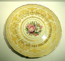 Rosenthal Ivory Bavaria Continental Plate Gold and Floral Motif