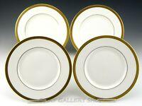 """Royal Doulton England H 4980 ROYAL GOLD 8"""" SALAD PLATES Set of 4"""