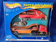 2002 Hot Wheels 1:64  Super Race Rigs - Scooter W/ 2 Big Rig Trucks