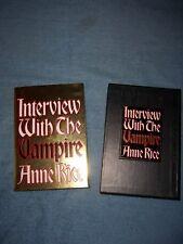 INTERVIEW WITH THE VAMPIRE by Anne Rice/Anniversary Ed/HCDJ/Literature/Thriller