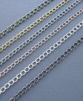 6ft Gold/silver/black Curb Cable Chains Link opened Findings Jewelry making DIY