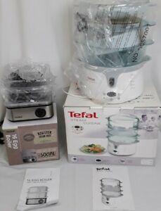 Bundle of Tefal steamer and VonShef egg boiler, small kitchen appliance new