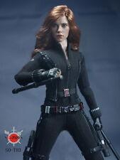 SO-Toys 1/6 Age of Ultron AOU Scarlett Johansson Black Widow Cothing Set W Head